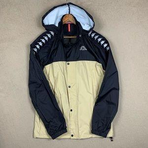 Kappa Full Tape Windbreaker Jacket - Size XL